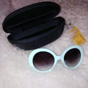 Trendy Fashion Sunglasses Light Blue Glasses
